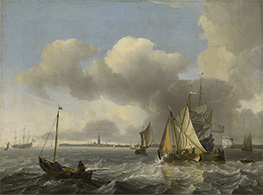 Bakhuysen | Vessels in a Breeze off Enkhuizen on the Zuider Zee, c.1683 | Giclée Canvas Print