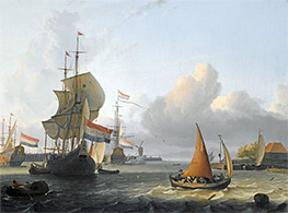 Bakhuysen | Shipping on the IJ at Volewijk near Amsterdam, Undated | Giclée Canvas Print