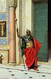 Ludwig Deutsch | Nubian Guard, 1895 | Giclée Canvas Print