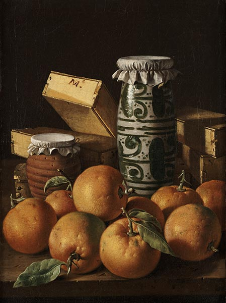 Still Life with Oranges, Jars, and Boxes of Sweets, c.1760/65 | Luis Egidio Meléndez | Painting Reproduction