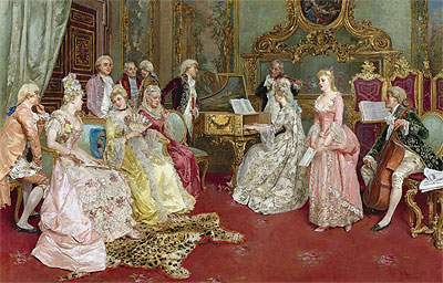 A Musical Recital, 1901 | Luis Alvarez Catala | Giclée Canvas Print
