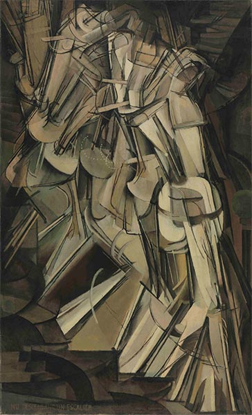 Nude Descending a Staircase II, 1912 | Marcel Duchamp | Giclée Canvas Print