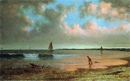 Martin Johnson Heade | New England Coastal Scene | Giclée Canvas Print