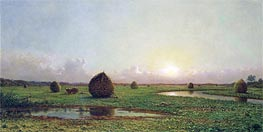 Martin Johnson Heade | Haystacks | Giclée Canvas Print