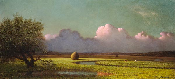 Sunlight and Shadow: The Newbury Marshes, c.1871/75 | Martin Johnson Heade | Giclée Canvas Print