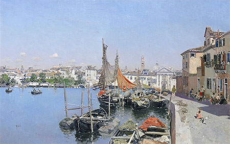 A Venetian Waterfront, undated | Martin Rico y Ortega | Painting Reproduction