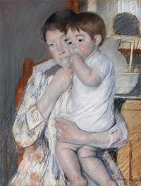 Cassatt | Woman and Child before a Washstand | Giclée Paper Print