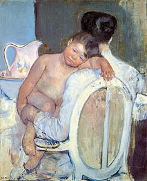 Cassatt | Woman Sitting with a Child in Her Arms, c.1890 | Giclée Canvas Print