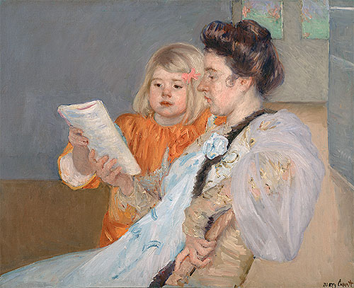 The Reading Lesson, c.1901 | Cassatt | Giclée Canvas Print