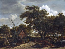 Meindert Hobbema | Cottages in a Wood | Giclée Canvas Print
