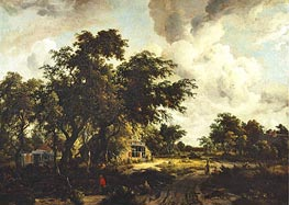 Meindert Hobbema | Village with Water Mill among Trees | Giclée Canvas Print