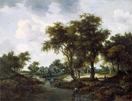 Meindert Hobbema | The Water Mill (The Trevor Landscape) | Giclée Canvas Print