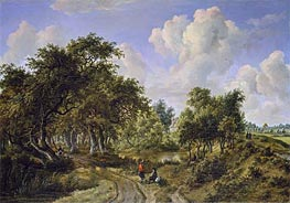 Meindert Hobbema | A Wooded Landscape | Giclée Canvas Print