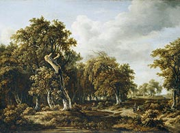 Meindert Hobbema | The Oak Forest | Giclée Canvas Print