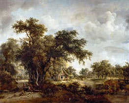Meindert Hobbema | The Farmhouse | Giclée Canvas Print