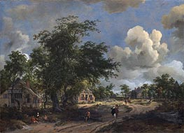 Meindert Hobbema | A View on a High Road | Giclée Canvas Print
