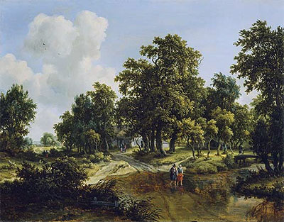 The Outskirts of a Wood, c.1660/70 | Meindert Hobbema | Giclée Canvas Print