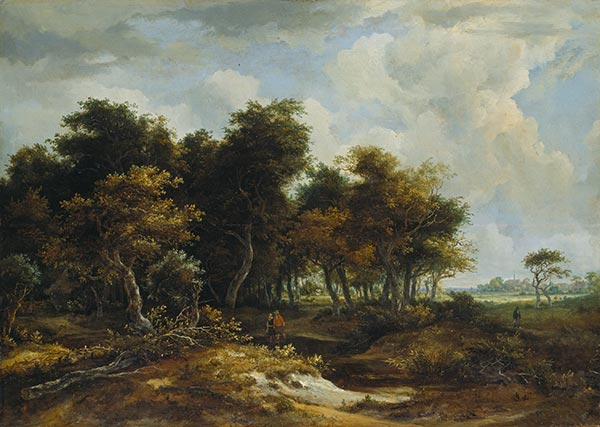 Entrance to the Forest, Undated | Meindert Hobbema | Giclée Canvas Print