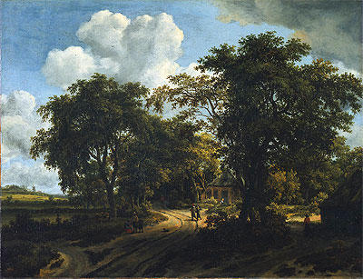 A Cottage in the Woods, c.1662 | Meindert Hobbema | Giclée Canvas Print