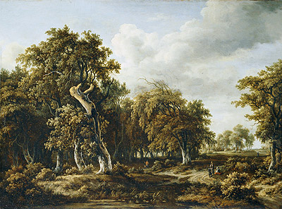 The Oak Forest, c.1660 | Meindert Hobbema | Giclée Canvas Print