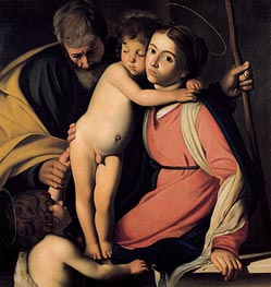 Caravaggio | The Holy Family with Saint John the Baptist | Giclée Canvas Print