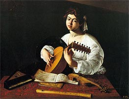 Caravaggio | Lute Player | Giclée Canvas Print
