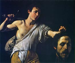 Caravaggio | David with the Head of Goliath, c.1607 | Giclée Canvas Print