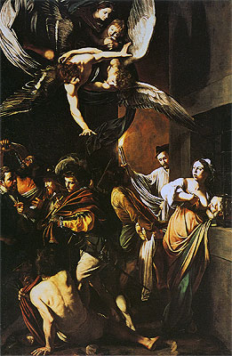 The Seven Acts of Mercy, 1606 | Caravaggio | Giclée Canvas Print