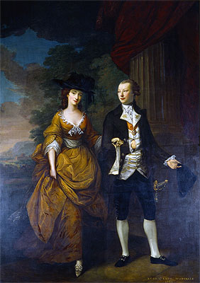 1st Lord Scarsdale and His Wide, Lady Caroline Colyear, 1761 | Nathaniel Hone | Giclée Canvas Print