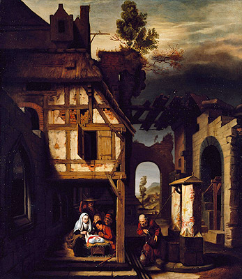 Nicolaes Maes | Adoration of the Shepherds, c.1660 | Giclée Canvas Print