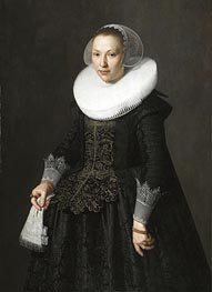 Nicolaes Pickenoy | Portrait of a Lady, 1633 | Giclée Canvas Print