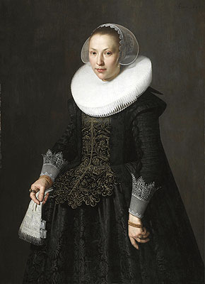 Portrait of a Lady, 1633 | Nicolaes Pickenoy | Giclée Canvas Print