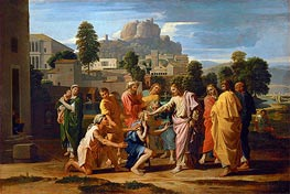 Nicolas Poussin | The Blind of Jericho (Christ Healing the Blind) | Giclée Canvas Print