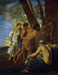 Nicolas Poussin | The Arcadian Shepherds (Et in Arcadia Ego) | Giclée Canvas Print