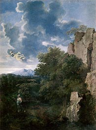 Nicolas Poussin | Landscape with Hagar and the Angel | Giclée Canvas Print