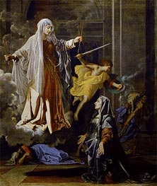 Nicolas Poussin | Saint Francoise Romana and the Miracle of the Plague | Giclée Canvas Print