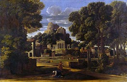 Nicolas Poussin | Landscape with the Gathering of the Ashes of Phocion | Giclée Canvas Print