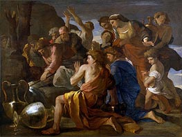 Nicolas Poussin | Moses Sweetening the Waters of Marah | Giclée Canvas Print