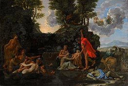 Nicolas Poussin | The Infant Bacchus Entrusted to the Nymphs of Nysa | Giclée Canvas Print