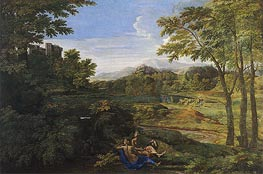 Nicolas Poussin | Landscape with Two Nymphs and a Snake | Giclée Canvas Print