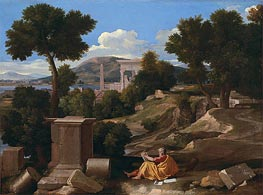 Nicolas Poussin | Landscape with Saint John on Patmos | Giclée Canvas Print