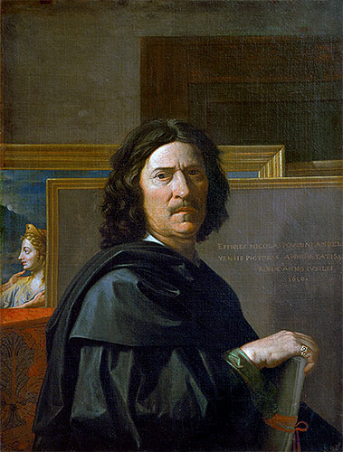 Self Portrait, 1650 | Nicolas Poussin | Giclée Canvas Print