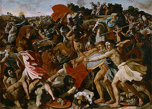 Victory of Joshua over the Amalekites, c.1625/26 | Nicolas Poussin | Giclée Canvas Print