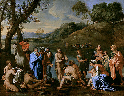 St. John Baptising the People, c.1636/37 | Nicolas Poussin | Giclée Canvas Print