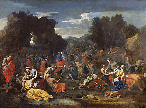 Israelites Gathering Manna in the Desert, c.1637/39 | Nicolas Poussin | Painting Reproduction