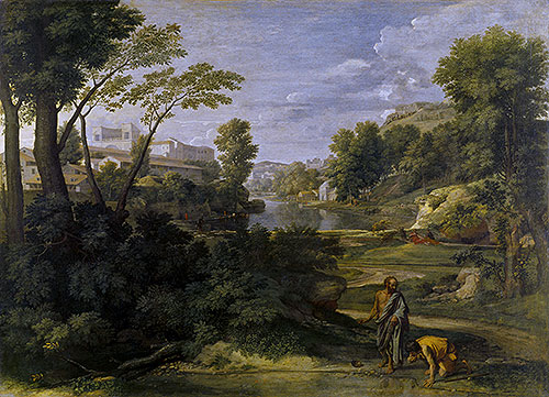 Landscape with Diogenes, 1648 | Nicolas Poussin | Painting Reproduction
