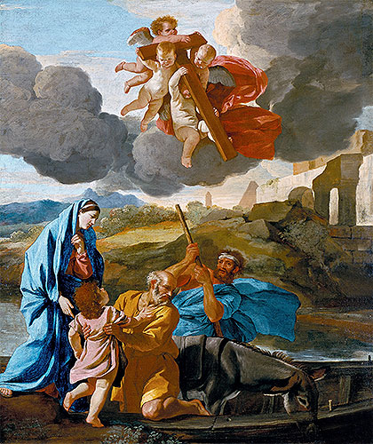 The Return of the Holy Family from Egypt, c.1628/38 | Nicolas Poussin | Giclée Canvas Print