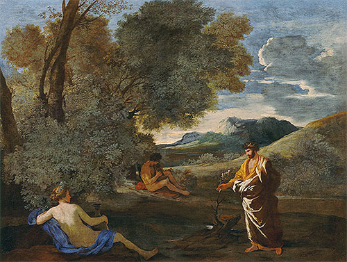 Numa Pompilius and the Nymph Egeria, c.1631/33 | Nicolas Poussin | Giclée Canvas Print