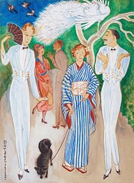 Nils von Dardel | Peacocks, 1918 | Giclée Canvas Print