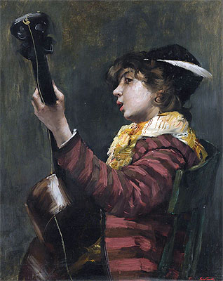 The Guitarist, Undated | Norbert Goeneutte | Giclée Canvas Print